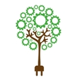 ecology concept isolated icon vector image vector image