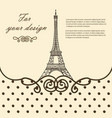 Eiffel tower paris hand drawn