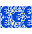european union and euro vector image vector image