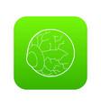 eye icon green vector image vector image