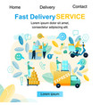 fast delivery service purchase vector image vector image