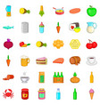 feed icons set cartoon style vector image vector image