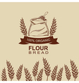 Flour bread label design Bakery retro vector image vector image