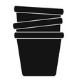 flowerpots icon simple style vector image