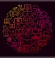 freelance line icon circle concept vector image vector image