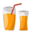 Glass of orange juice vector image vector image