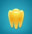 Gold human teeth vector image vector image