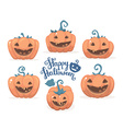 halloween of collection decorative orange pu vector image vector image