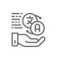 hand holding speech bubbles language translation vector image vector image