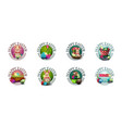 happy easter large collection round greeting vector image
