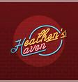 heathen haven neon sign lamp vector image vector image