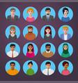 international avatars icons vector image