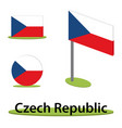 isometric flag czech republic vector image vector image