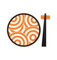 japanese ramen logo template vector image