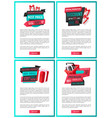 landing pages price tags special offer banners vector image vector image