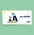 man and little boy with autism syndrome building vector image