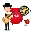 man spain music design vector image vector image