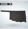 map us state oklahoma vector image vector image
