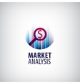 market analysis logo icon research vector image