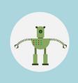 modern robot icon cartoon futuristic artificial vector image vector image