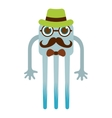 monster cartoon hipster style isolated icon design vector image vector image