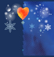 new year background with snow background vector image vector image