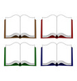 open book icons in cartoon style vector image