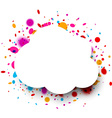 Paper cloud frame vector image