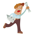 Paperboy vector image vector image