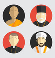 People portraits Avatar religion Flat design vector image vector image