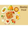 Potato meat and cheese dishes for lunch icon vector image
