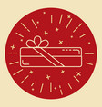 rectangular gift box icon in thin line style vector image vector image