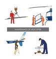 Repair and maintenance of helicopter vector image vector image