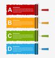 Roller brush infographics options banner Design vector image