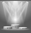 round sport podium - champion pedestal winner vector image