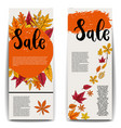 sale set banner templates with autumn leaves vector image vector image