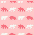 seamless pattern of bear vector image vector image