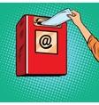Sending paper letters Inbox vector image