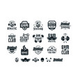 set emblems and logo for gym workout athletic vector image vector image