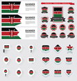 SET Kenya vector image