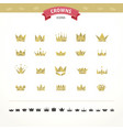 set of geometric vintage crown vector image vector image