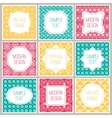 Set of graphic design frames for logo and badges vector image vector image
