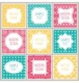 Set of graphic design frames for logo and badges vector image