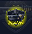 shadow assassin logo mascot esport team or print