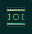 soccer field outline colored icon vector image