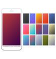 soft color gradient backgrounds set vector image