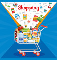 special offer on supermarket sale concept vector image