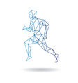 Sports man running vector image vector image