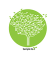 Stylized tree and icon vector image