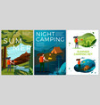 summer posters set - tourist day and night vector image vector image